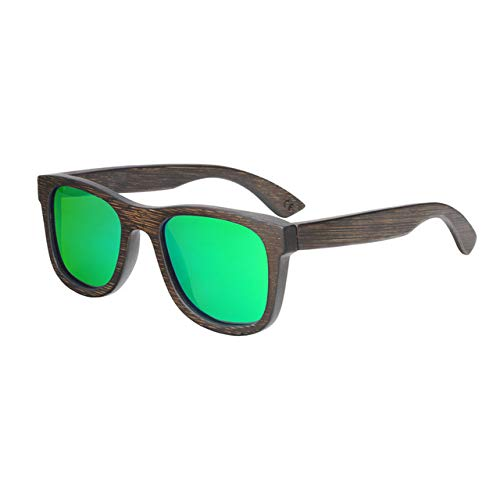 Green lens BerWerfashion Polarized Sunglasses Available Bamboo Wooden Sunglasses  (Lenses color  Silver Lens)