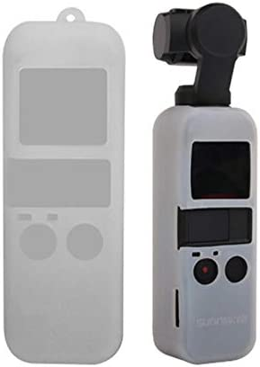 for Osmo Pocket Accessories Non-Slip Dust-Proof Cover Silicone Sleeve for DJI OSMO Pocket Black Color : White