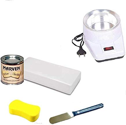 Flyride Pro Wax100 Warmer Hot Wax Heater for Hard, Strip and Paraffin  Waxing With White Chocolate wax, Knife & 70 Strip
