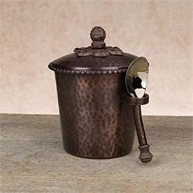 Hammered Copper Ice Bucket with Scoop