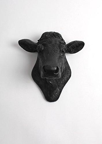 Black & White Cow Figurine - 3