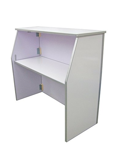Amazon.com: Portátil plegable color blanco acabado Bar – con ...