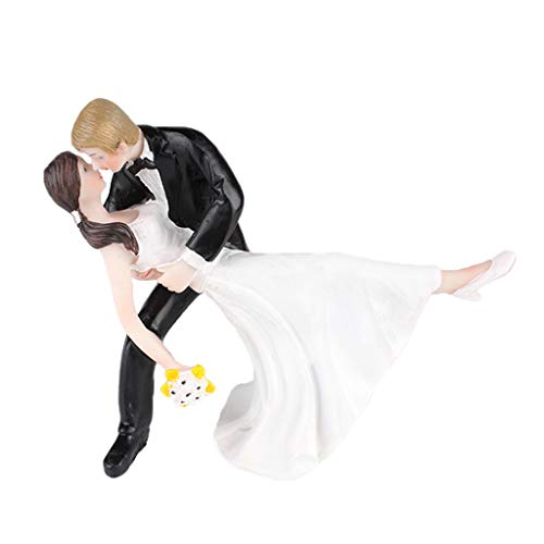 - Prettyia Wedding Collection Funny Wedding Cake Topper Bride and Groom Humorous Figurines 13.5 x 7 x 10.5cm / 5.31 x 2.75 x 4.13 inch
