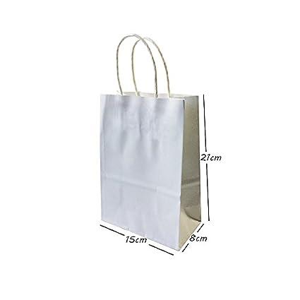 71c2a64a96e0 Amazon.com: Gano Zen Paper Bag 10pcs Paper Bags with Handles ...