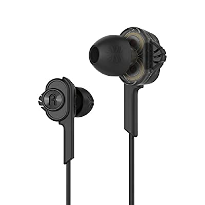UiiSii T6 WiredEarbuds Dual Dynamic Drivers Earphones In-ear Headphones with Mic Hifi Bass Noise Reduction Volume Control Headset for all 3.5mm Jack Device
