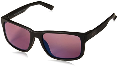 Under Armour UA Assist Square Sunglasses, UA Assist Satin Black / Black / Golf, ()