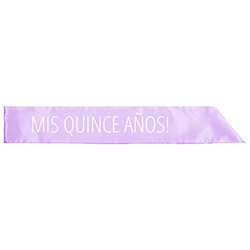 Quince Anos Sash - Mis Quince Años Dance Party: Adult Satin Party Sash
