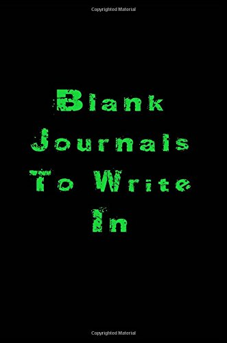 Blank Journals To Write In: 6 x 9, 108 Lined Pages (diary, notebook, journal)