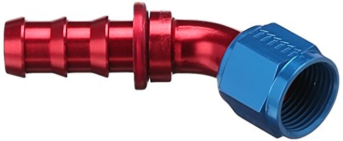 Fitting Hose Socketless - Aeroquip FCM1524 Aluminum -10AN Socketless 45-Degree Hose Fitting