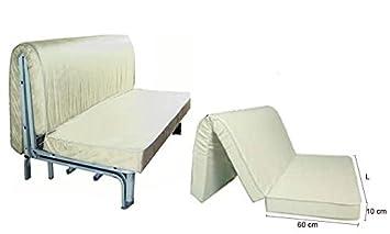 materasso per divano pronto letto misure 160x190 altezza 10cm con ... - Materasso X Divano Letto Matrimoniale