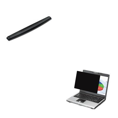 KITFEL4801101FEL9178201 - Value Kit - Fellowes Blackout Privacy Filter for 19amp;quot; Widescreen LCD/Notebook (FEL4801101) and Fellowes Memory Foam Keyboard Wrist Rest (FEL9178201)