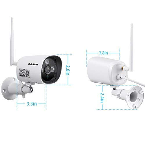 FLOUREON 1080P HD Wireless WiFi IP Camera Waterproof CCTV Home Security Bullet Cam Support Motion Detection Alarm Video Recorder with Remote Playback (1080P Outdoor Camera)