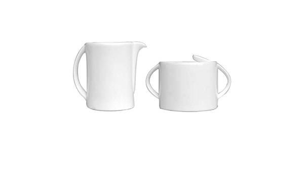 Concavo Porcelain 5oz Creamer With Handle 6oz Covered Sugar Bowl 2 25 Covered Butter Dish 3oz Gravy Sauce Boat 4pc Espresso Cups And Eclipse Porcelain Pasta Plate White Set Of 11 Pieces Cream Sugar Sets Amazon Com