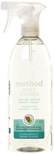 Method Naturally Derived Daily Shower Cleaner Spray, Eucalyptus Mint, 28 Ounce (Pack of 8)