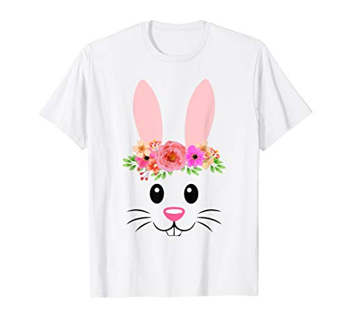 - Cute Easter Bunny Face T-Shirt For Girls and Toddlers
