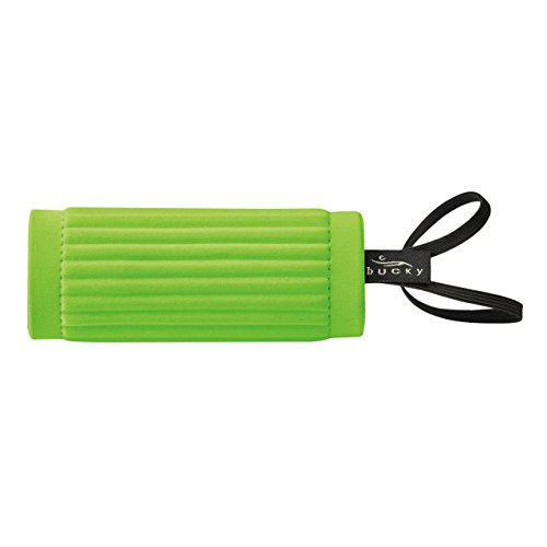 Wrap Luggage Tag (Bucky IdentiGrip, Luggage ID Tag Holder, Wraps Around Handle of Bag, Cushioned for Carrying, Easily Identify Your Bag - Lime Green)