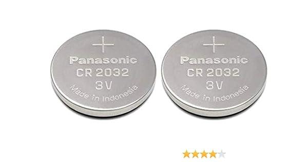 Panasonic CR 2032 - Pilas (Alcalino, 3 V, 220 mAh, 2.9 g) Pack de 2: Amazon.es: Salud y cuidado personal