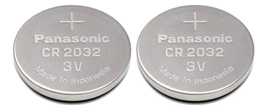 (One (1) Twin Pack (2 Batteries) Panasonic Cr2032 Lithium Coin Cell Battery 3V Blister Packed)