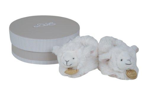 Doudou et Compagnie DC2426 - Patucos con sonajero, diseño de oveja, color blanco