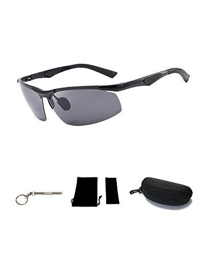 SDolphin Mens Sports Style Polarized Sunglasses for Men Driving Cycling Running Fishing Golf Unbreakable Frame Metal Driver Glasses - Bifocal Sunglasses Fishing Best