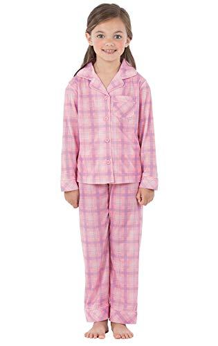 PajamaGram Big Girls Pajamas Set - Long Sleeve 2 Piece Girls Pajamas Set Pink 10