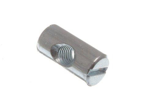 Barrel Nut fü r Mö bel- Bolt mit Schlitz M6 x 20 mm Lang Zp ( Packung mit 8) onestopdiy.com