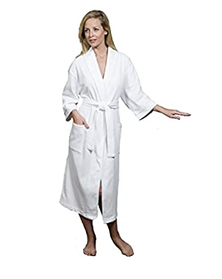 Waffle Knit Bathrobe - Lightweight, Super Soft Regent Classic Robe - Hotel & Spa Quality - Perfect for Women and Men