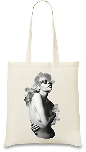 Blossom Custom Printed Tote Bag| 100% Soft Cotton| Natural Color & Eco-Friendly| Unique, Re-Usable & Stylish Handbag For Every Day Use| Custom Shoulder Bags By Bang (Blossom Everyday Tote)