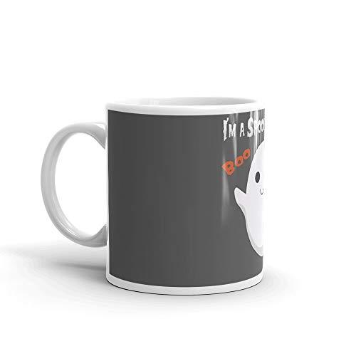 Spooky Ghost Mug 11 Oz White Ceramic -