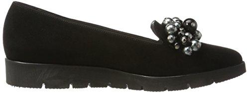 Peter Kaiser Women's Cremara Loafers, Black, 4.5 UK Black (Schwarz Suede 240)