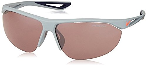 Nike EV0948-066 Tailwind Swift E Sunglasses (Frame Tint with Silver Flash Lens), Matte Wolf Grey/Lava Glow ()
