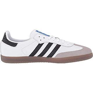 adidas Originals Men's Samba OG Sneaker White/Black/Granite 13