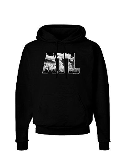 TooLoud ATL Atlanta Text Dark Hoodie Sweatshirt - Black - -
