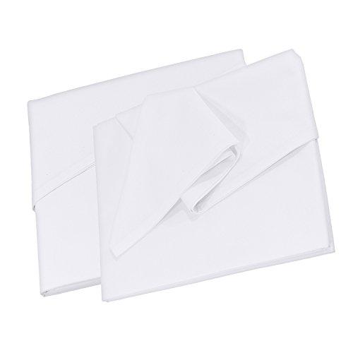 Doppelpack Betttuch Bettlaken Haustuch Tischdecke in Weiß, Größe 150 x 250 cm aus 100 % Baumwolle