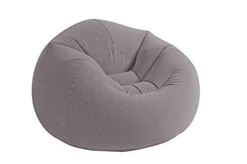 Chair Gray Bag Bean (Intex Beanless Bag Inflatable Chair, 42in X 41in X 27in, Beige)