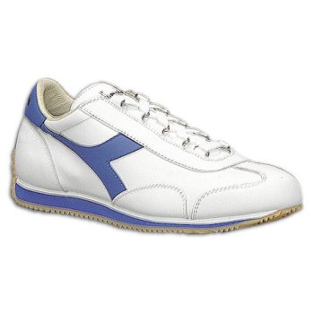 Diadora Men's Equipe Leather ( sz. 12.0, White/Royal )