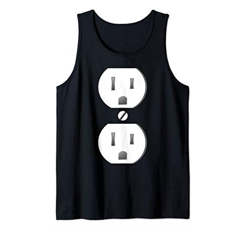Electrical Outlet Socket Easy Costume Tank Top]()