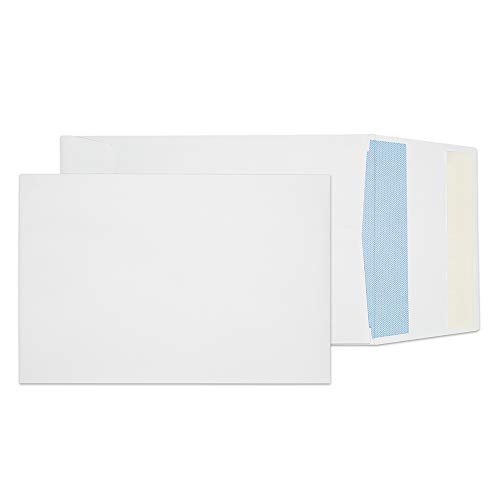 Expansion Plain Envelopes End White (Blake Security Tinted Open End Expansion Envelopes, 6 3/8