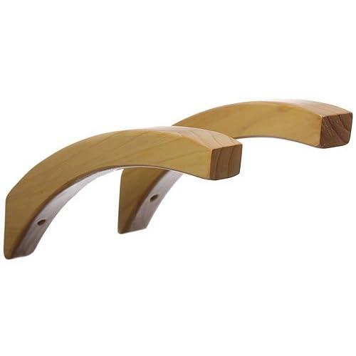 12 Inch Angled Wood Shelf Brackets Honey Maple