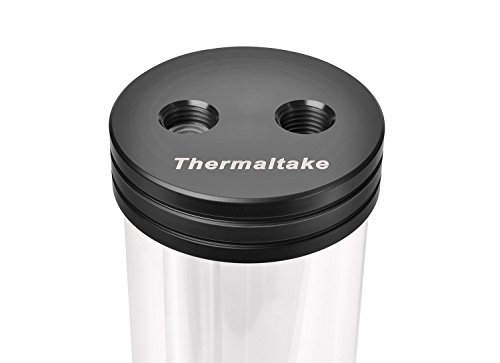 """Thermaltake Pacific DIY LCS PR22 Pump/Reservoir Combo 3-Port G 1/4"""" Thread Tt LCS Certified Pom Pmma Cooling CL-W081-PL00BL-A"""