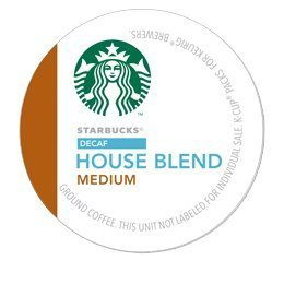 Decaffeinated House Coffee Blend Starbucks - STARBUCKS DECAF HOUSE BLEND COFFEE K CUP 72 COUNT