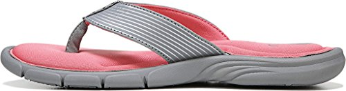 Grey Calypso Sandal Thong Chrome Silver Ryka Coral Frost Women's Refresh w4gqXg