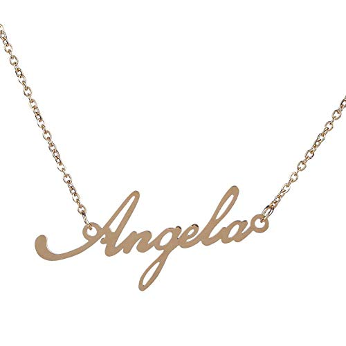 Initial Pendant Nameplates - Fashion Women DIY Nameplate Clavicle Pendant Charm Chain Necklace Jewelry Gift Casual Decoration