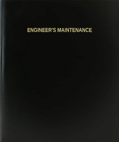 BookFactory® Engineer's Maintenance Log Book / Journal / Logbook - 120 Page, 8.5