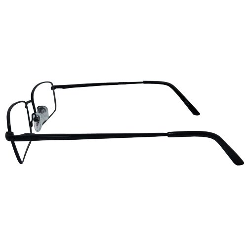 EyeBuyExpress Rectangle Black Reading Glasses Magnification Strength 4.5