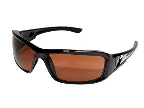 Edge Eyewear TXB215 Brazeau Safety Glasses, Black with Polarized Copper