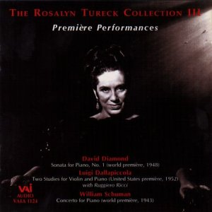 The Rosalyn Tureck Collection, Vol. 3: Premiere Performances