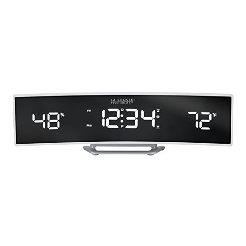 La Crosse Technology 602-247 Alarm Clock, White