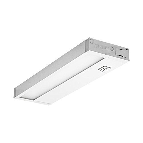 Dimmable Hardwired Under Cabinet LED Lighting, UL Listed, Edge lit Technology, Warm White(2700k), White Finished (8 Inch) ()