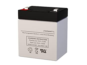 YT-1245 12 Volt 5 AmpH SLA Replacement Battery with F1 Terminal